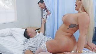 Busty Nurse Gets Quiver Orgasm From Patients